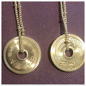 Handmade Jewelry - 14k YEN JAPANESE COIN NECKLACE